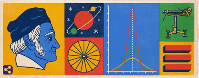 Doodle dedicado a Johann Carl Friedrich Gauss