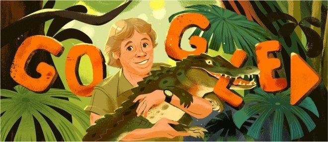 Doodle de Google dedicado a Steve Irwin