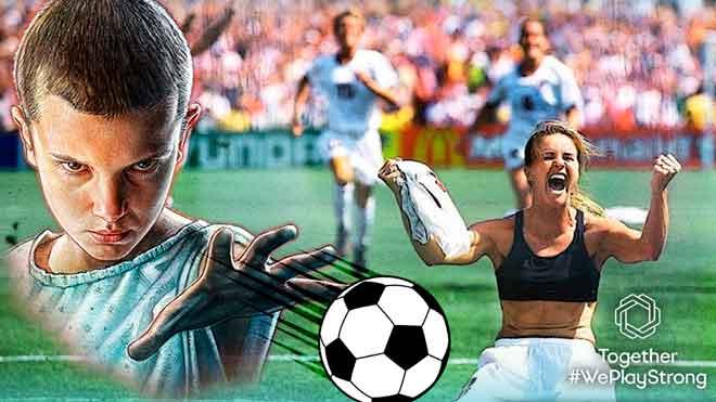 La actriz Millie Bobby Brown, fichaje estrella de la UEFA para promover la igualdad en el fútbol.