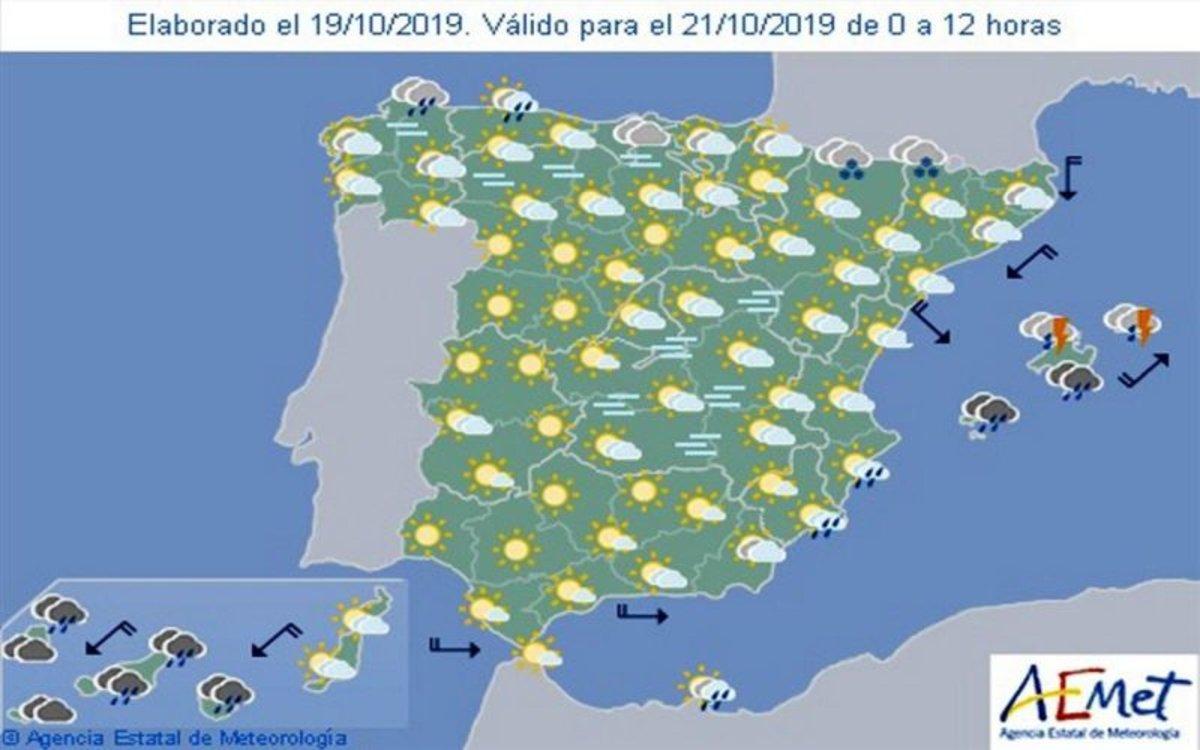 Mapa del clima en España elaborado por la Aemet.
