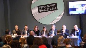 Autoridades en el acto de presentación de las jornadas Tech Spirit Barcelona.