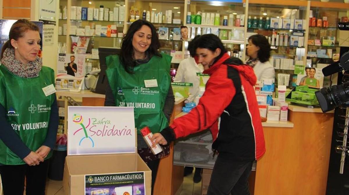 Campaña de recogida de medicamentos del Banc Farmacèutic del 2016.