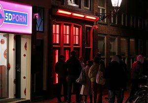 El famoso Barrio Rojo en Ámsterdam, Holanda.