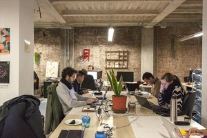 Un centro de coworking enBarcelona.