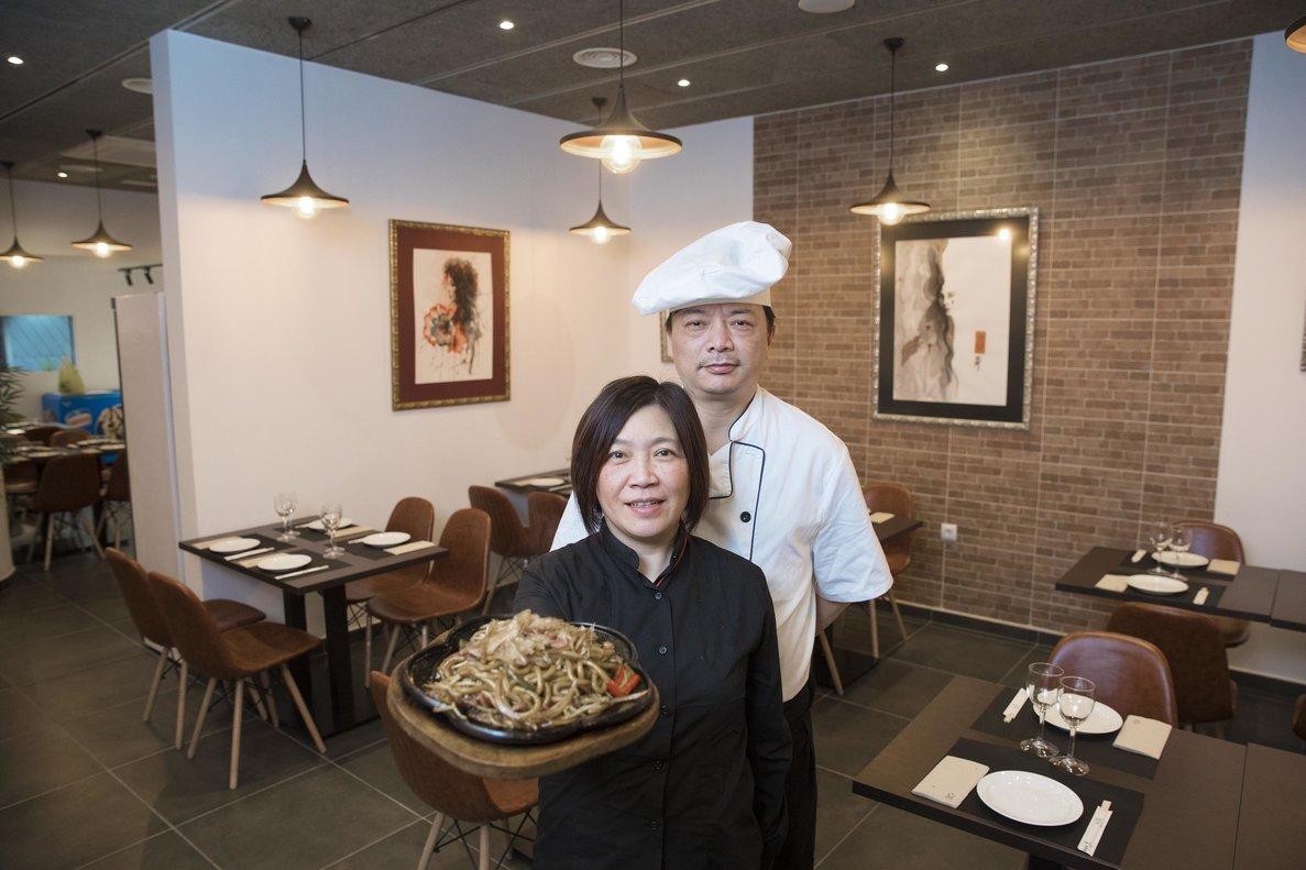 Binqing Wang y su mujer, Cristina, en Shanghai Stories.