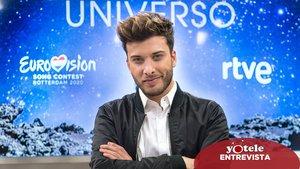 Blas Cantó en la presentación de 'Universo'.