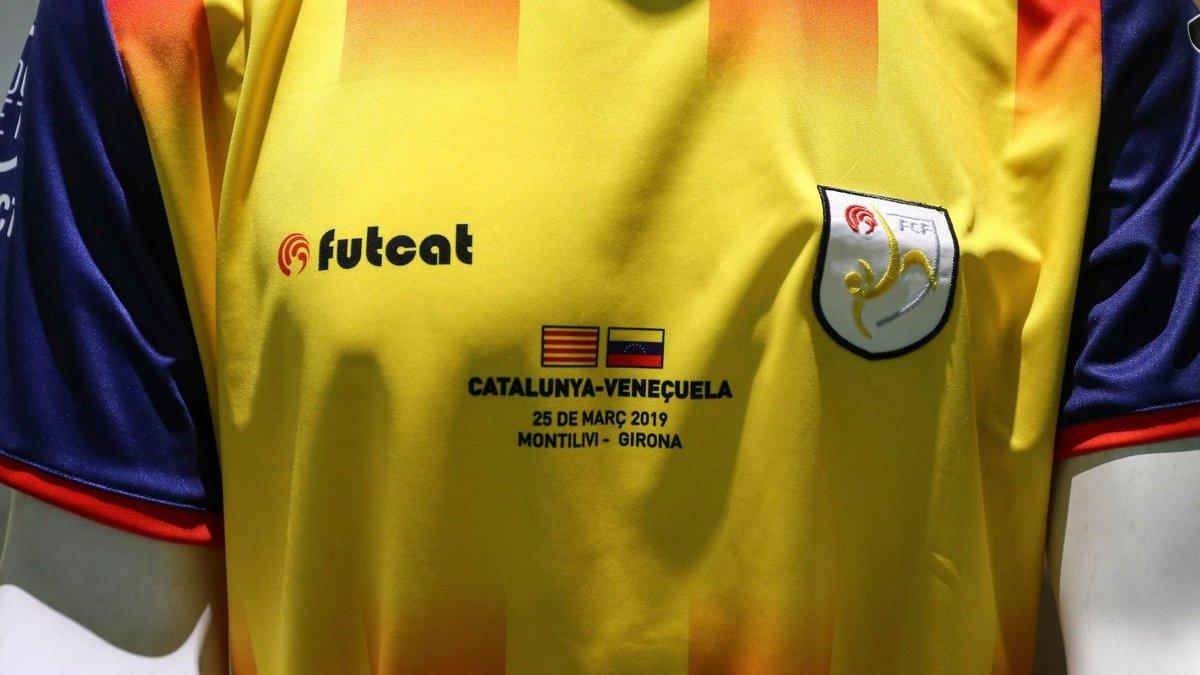 La camiseta de Catalunya para enfrentarse a Venezuela.