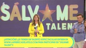 Carlota Corredera anunciando el nuevo 'Sálvame Talent'