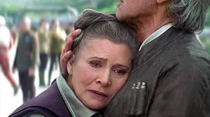 Carrie Fisher y Harrison Ford, en una escena de 'Star Wars: el despertar de la Fuerza'