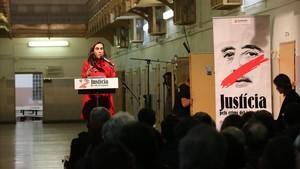 La compañera de Jordi Cuixart interviene en el acto de Òmnium Culturalen la Modelo.
