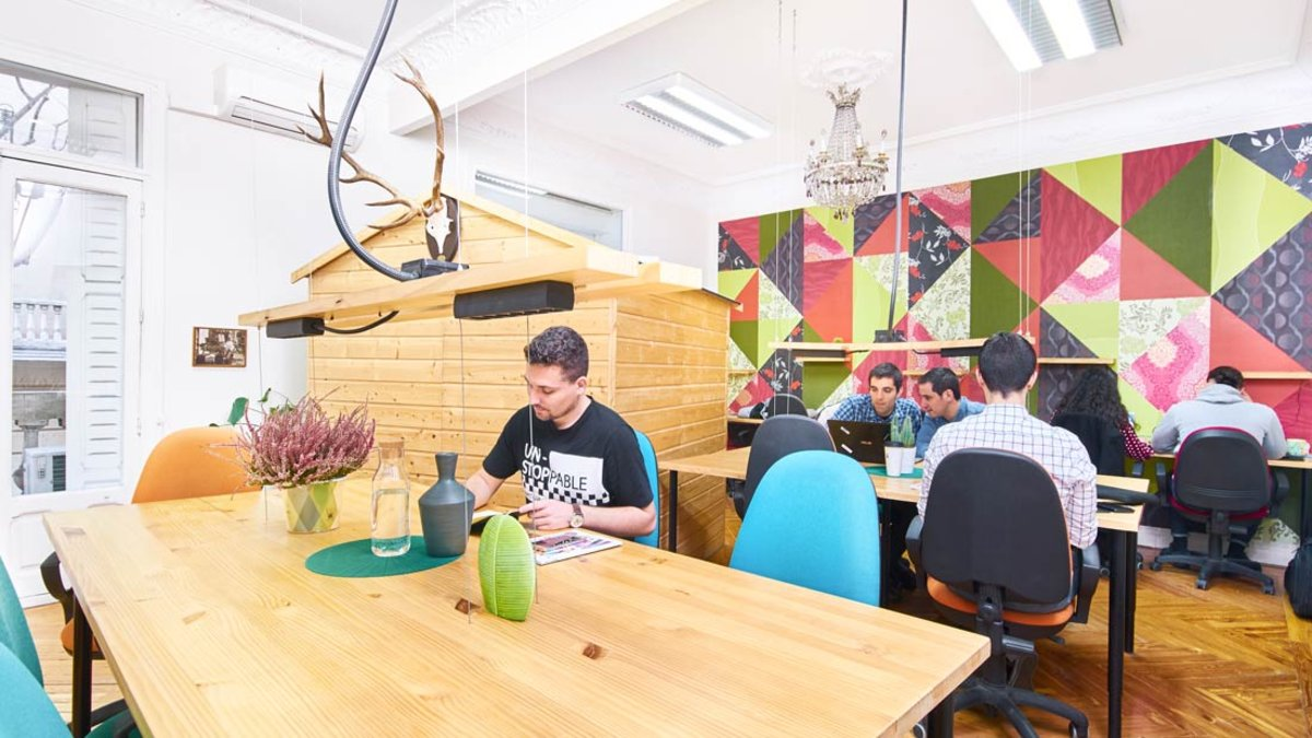Uno de los espacios coworking disponibles en The Shed Co, en Madrid