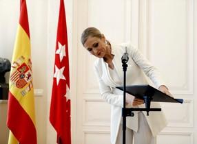 Cristina Cifuentes, el día que anunció su dimisión.