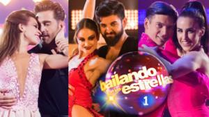 David Bustamante, Manu Sánchez y Patry Jordan, finalistas de Bailando con las estrellas, junto a sus respectivas parejas de baile.