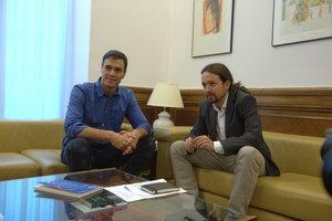 Sánchez i Iglesias constaten cara a cara les seves diferències