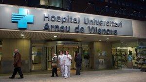 La entrada delHospital Arnau Vilanova de Lleida