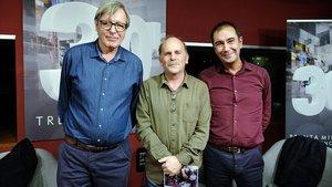 Joan Salvat, Eduard Sanjuan y Carles Solà, directores de las diferentes etapas del programa '30 minuts' (TV-3).