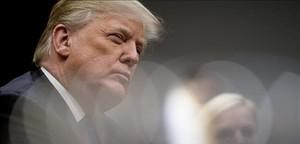 Donald Trump, durante una reunión con senadores republicanos en la Casa Blanca.