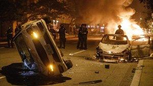 Enfrentamientos con la policía en Washington.