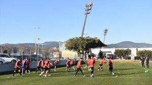 Un entrenamiento del Reus Deportiu.