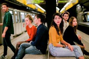 El andén del metro juega un papel importante en la trama.
