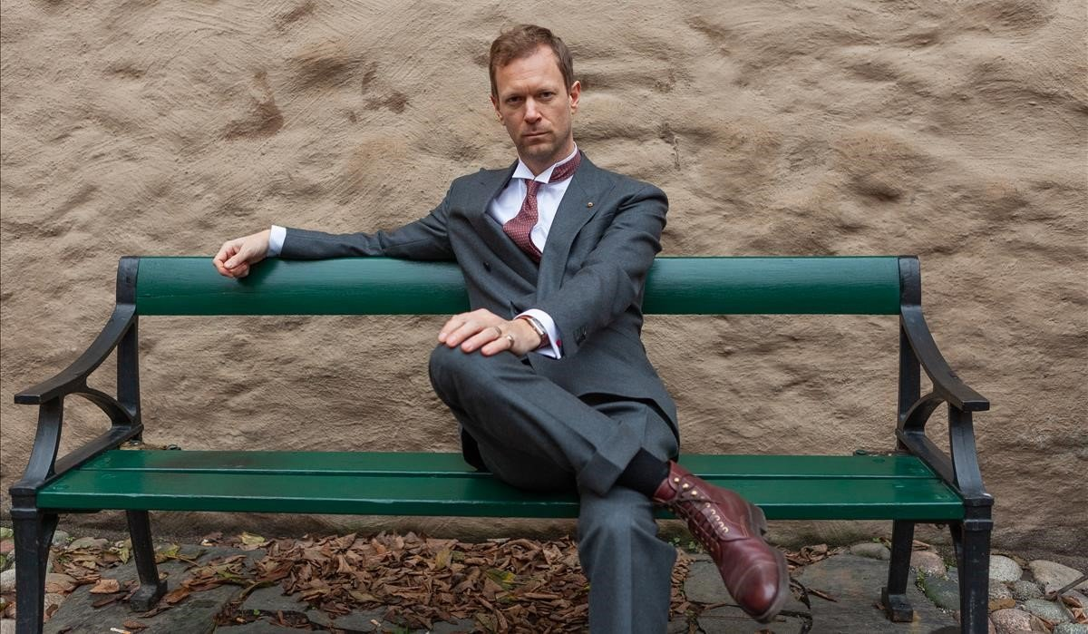 El escritor sueco Niklas Natt och Dag, el pasado diciembre en Estocolmo.