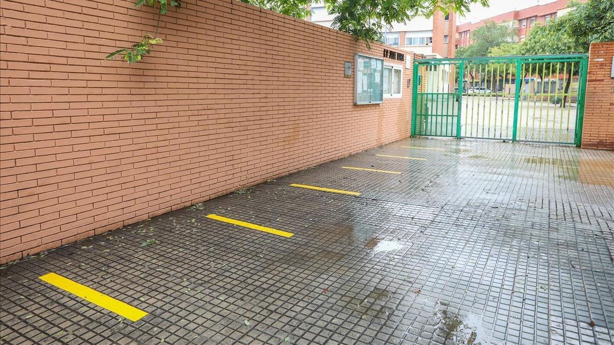 Escuela de Gavà ante el inicio escolar