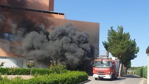Un incendi a l'Hospital d'Hellín obliga a desallotjar tots els pacients