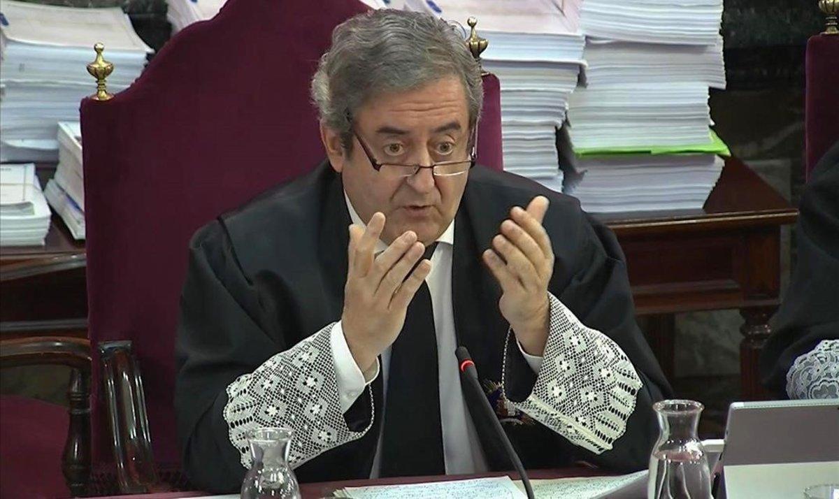 El fiscal Javier Zaragoza, en la segunda jornada del juicio del 'procés'.