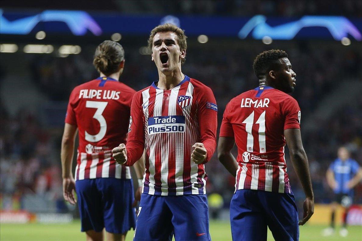 Griezmann celebrando un gol en el Wanda Metropolitano