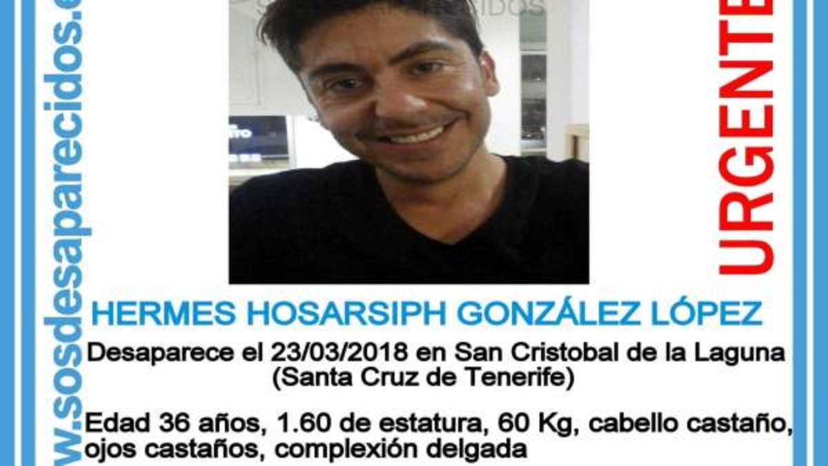 Hermes Hosarsiph González Lópezen el cartel compartido por Sosdesaparecidos.