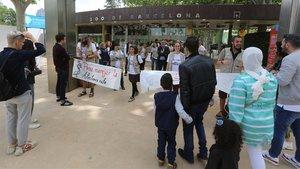 Los trabajadores del Zoo, en huelga.