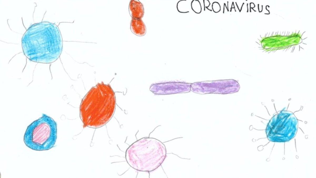 Ilustración del coronavirus de Emma.