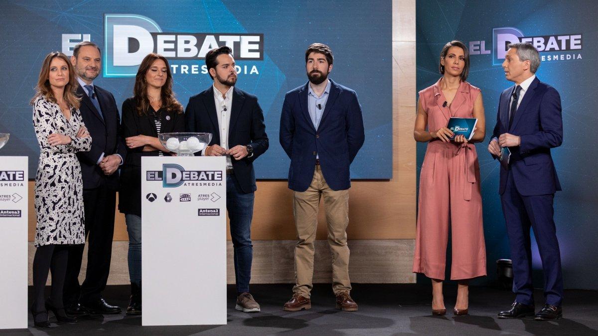 Imagen del sorteo de 'El debate' de Atresmedia.