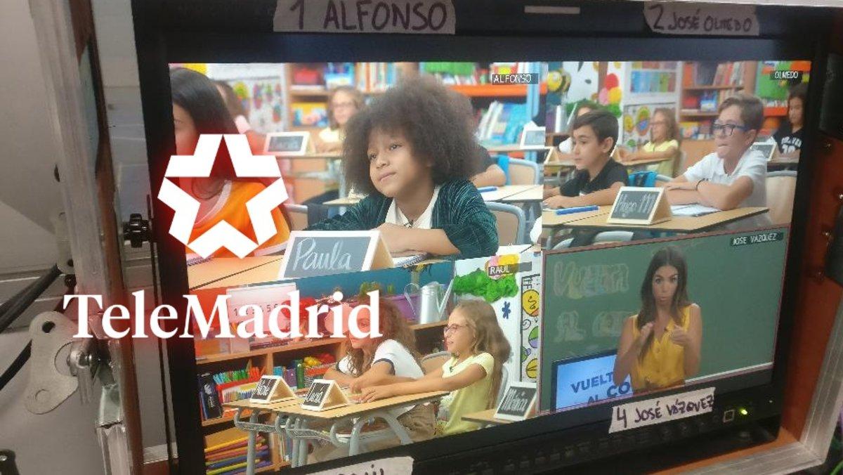 Imagen de la grabación del programa de Elena Furiase en 'Vuelta al cole'.