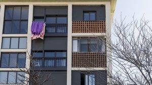 Imagen de una vivienda de la calle Fortuna, en Sants-Montjuïc.