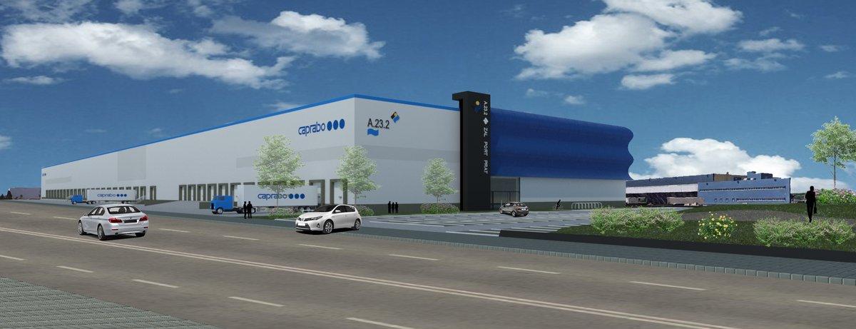 Imagen virtual del centro que Caprabo construirá en el ZAL.