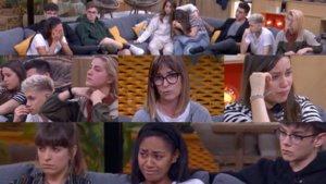 Imágenes de las reacciones de los concursantes de 'OT 2020' al conocer la decisión de suspender el programa.
