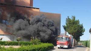 El incendio delhospital de Hellín, en Albacete.