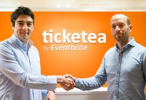 A la izquierda, Javier Andrés, consejero delegado y cofundador de Ticketea; a la derecha, Frans Jonker, General Manager para Europa de Eventbrite.