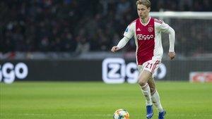 De Jong, con la camiseta del Ajax.