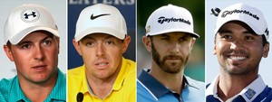 Jordan Spieth, Rory McIlroy, Dustin Johnson y Jason Day.