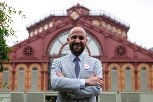 Jordi Graupera, durante las pasadas elecciones municipales en Barcelona.