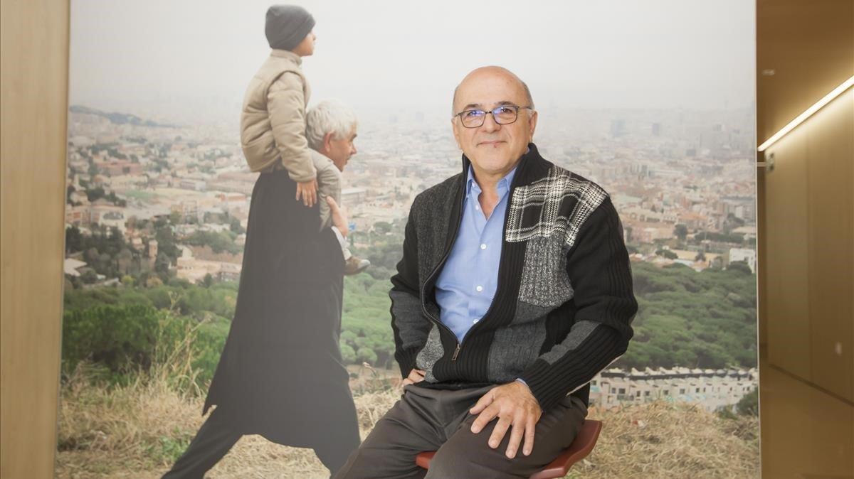 Pérez, en la Fundación Pasqual Maragall.