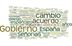 Las palabras más utilizadas por Pedro Sánchez en su discurso.