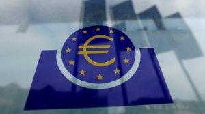 El logo del Banco Central Europeo (BCE), reflejado en una ventana en Fráncfort.