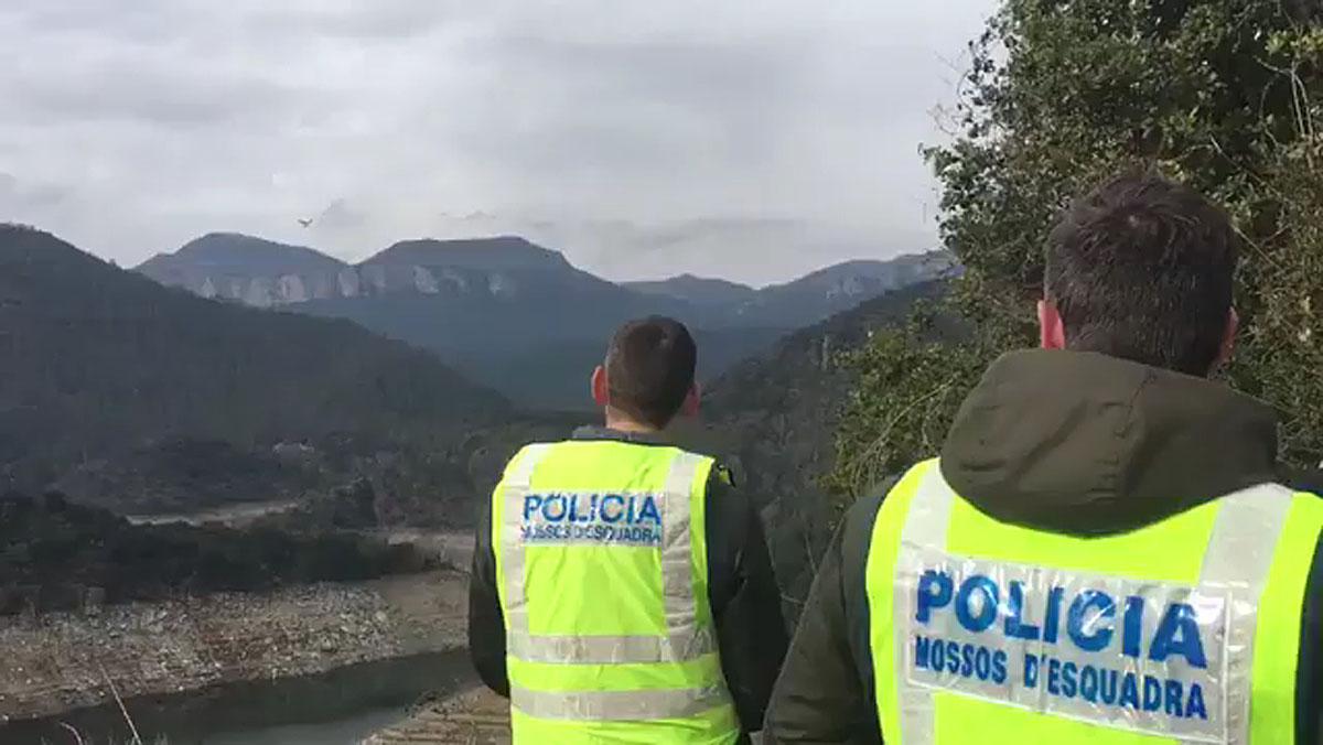 Los Mossos reconstruyen los asesinatos de Susqueda mediante un dron.