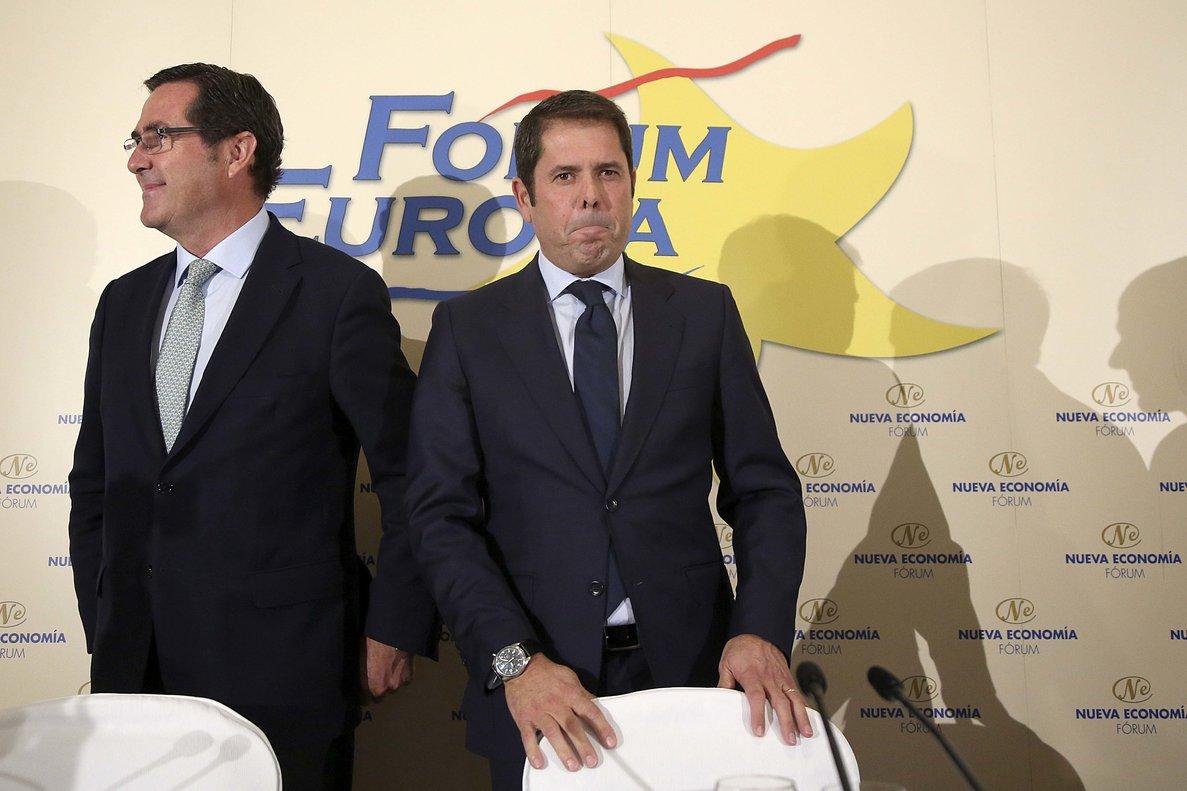 El presidente de Cepyme,Gerardo Cuerva (derecha) en una foto de archivo.