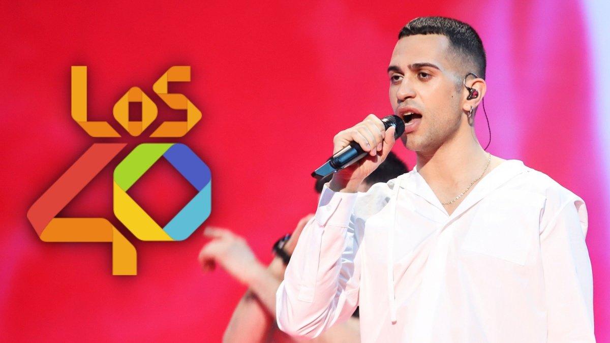 Mahmood en el escenario de Eurovisión 2019.