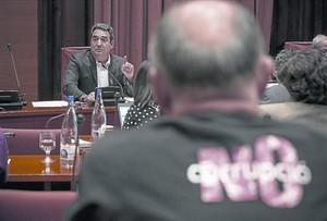 Manuel Bustos, durante su comparecencia en la comisión Pujol del Parlament, el pasado 8 de junio.