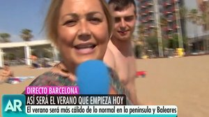 "La reportera Mayka Navarro se enfrenta a un espontáneo borracho: ""Vete a dormir"""